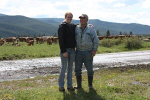 Unloading cows with my Grandpa in the Rocky Mountains